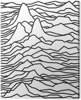 The rhythm of the waves, the pulsar, vector lines design, broken lines, mountains