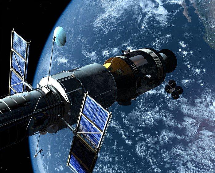 Canvas Print The space ship - Air