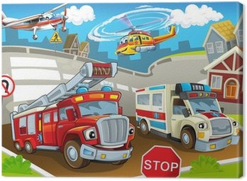 Canvas Print The vehicles in city, urban chaos