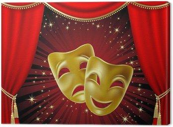 Canvas Print Theatrical masks
