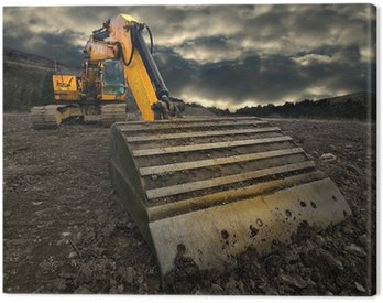 threatening excavator