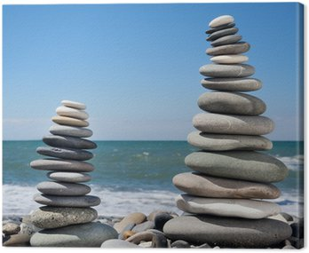 Three pyramids of stones for meditation