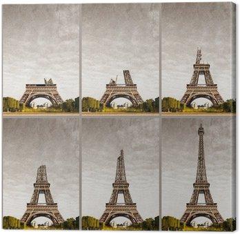 Tour Eiffel progressive construction