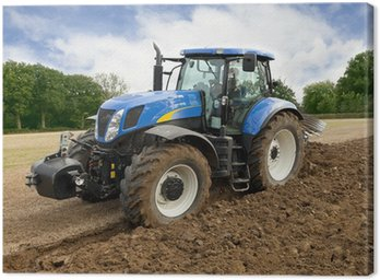 Tractor Ploughing Front View