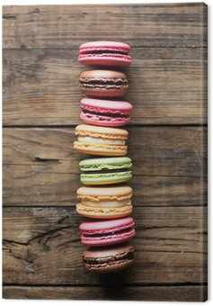 Canvas Print traditional french colorful macarons