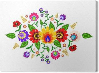 Canvas Print Traditional Polish floral folk pattern vector