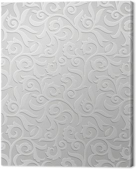 Traditional silver wallpaper Canvas Print