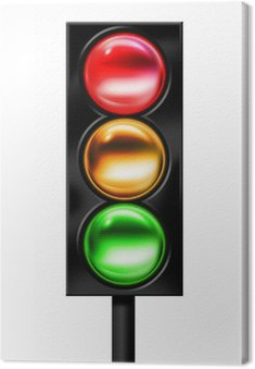 Canvas Print Traffic light