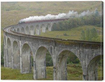 Train on Glenfinnan viaduct. Scotland.