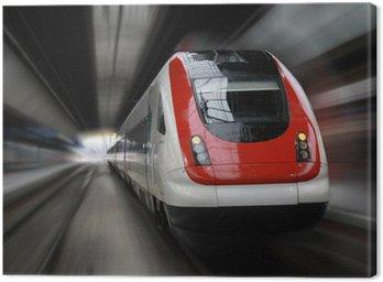 Canvas Print train series