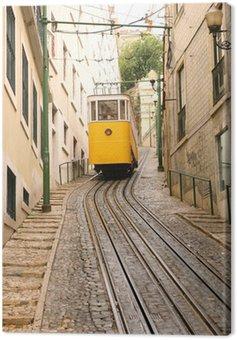Canvas Print Tram Climbing a Hill