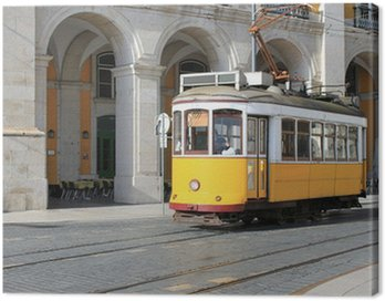 Canvas Print Tram in Lisbon, Portugal