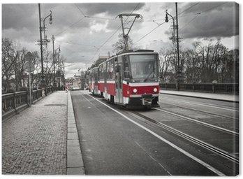 tram in the city of Prague