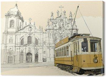 tramway in Porto Canvas Print