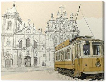 Canvas Print tramway in Porto