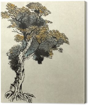 Canvas Print tree drawing example