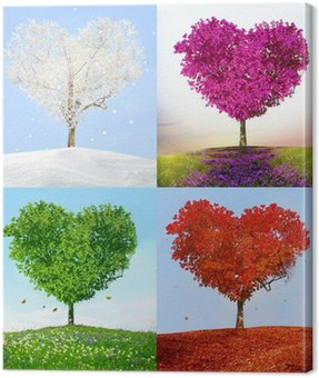 Canvas Print Tree of love in for season