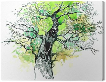 Canvas Print tree trunk