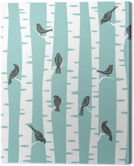 trees pattern Canvas Print