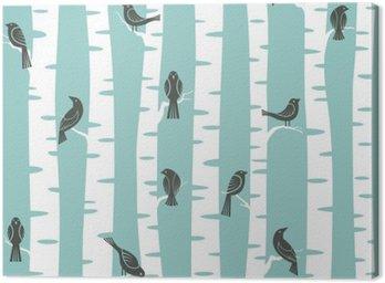 Canvas Print trees pattern