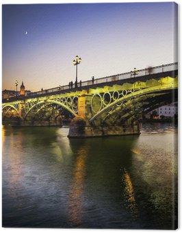 Triana bridge over the river Guadalquivir, Sevilla, Andalucia Canvas Print