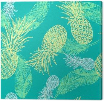Tropical seamless pattern Canvas Print