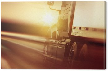 Canvas Print Trucking Business Concept