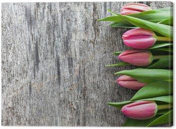 Tulpen auf Holz