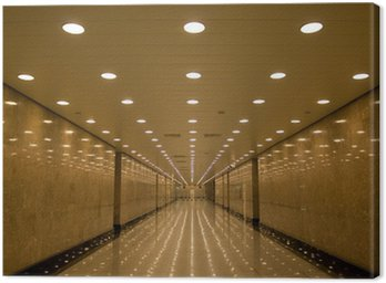 Canvas Print tunnel of lights
