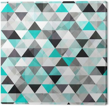 turquoise shiny vector background Canvas Print