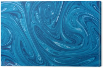 Canvas Print turquoise watercolor marble background