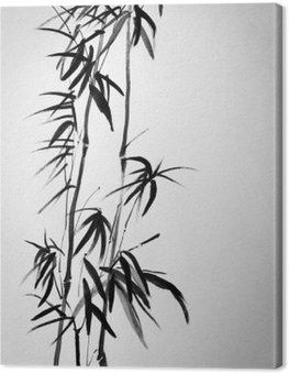 Canvas Print two bamboo