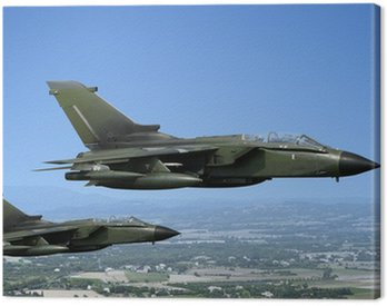Canvas Print Two fighter jets