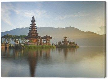 Ulun Danu temple on Bratan lake, Bali, Indonesia Canvas Print