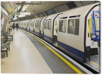 Underground in London Canvas Print