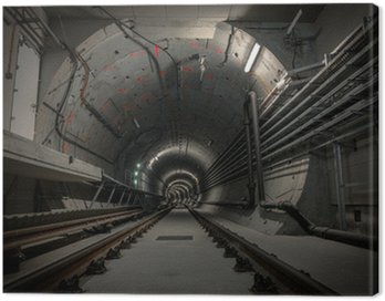 Canvas Print Underground tunnel for the subway