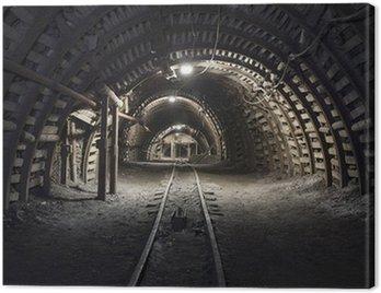Canvas Print Underground tunnel in the coal mine
