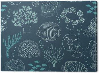 Canvas Print Underwater life pattern