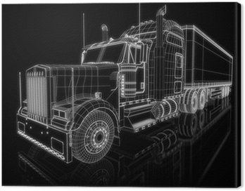 Canvas Print US Truck - perspective 3d construction