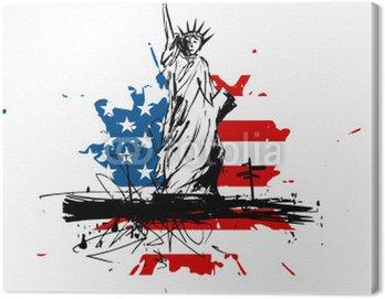 Canvas Print USA Statue de la liberté