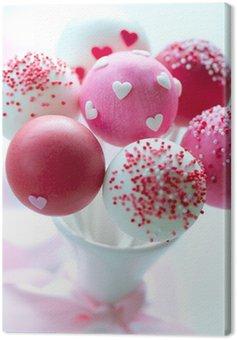 Canvas Print Valentine cake pops