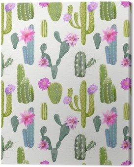 Vector Cactus Background. Seamless Pattern. Exotic Plant. Tropic