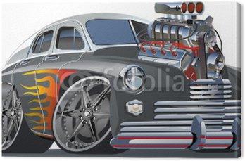 Vector cartoon hot rod (engine full complete).