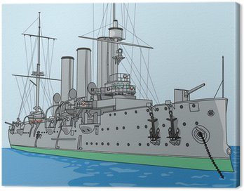Canvas Print vector cruiser Aurora