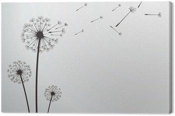 vector dandelion Canvas Print