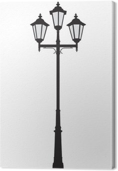 Canvas Print Vector illustration of an old-fashioned street lamppost