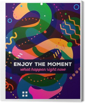 Canvas Print Vector illustration of colorful abstract composition with text o