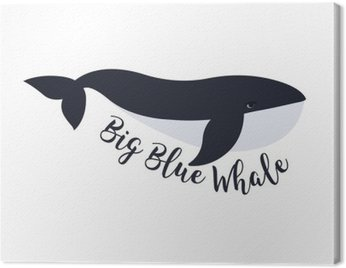 Canvas Print Vector illustration of whale. Symbol design