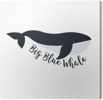 Vector illustration of whale. Symbol design Canvas Print