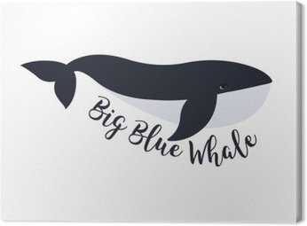 Vector illustration of whale. Symbol design